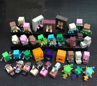36Pcs Set MC Block Mini Figures Toys PVC Mini Action Fifures...