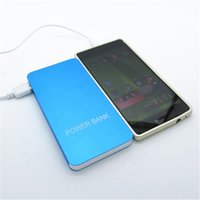 Metallgehäuse 20000mah Dual-USB-Power-Bank Ultra-dünne Polymer-Batterie Universal Mobile Power Charger für Smartphones