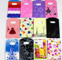 새로운 200PCS / 많은 12 개 색상 15X9cm 심장과 소녀 패턴 플라스틱 보석 선물 가방 쥬얼리 가방 무료 배송 파우치