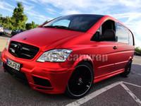 União Red Satin Chrome Wrap filme de carro com bolha de ar livre para o veículo de luxo / caminhão gráficos cobrindo folha tamanho 1.52x20m / Roll