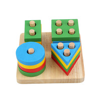 Baby Toys Educational Wooden Geometric Sorting Board Montess...