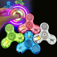 Bluetooth Fidget Spinner musique ABS Crystal Bluetooth Spinner Led Spinner à main jouet EDC Toy pour décompression Anxiety Toys DHL OTH484