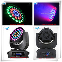 2 pz / lotto tre forniture cerchio cina moving head zoom, 5in1 36x15 w led wash testa mobile rgbaw luce della fase