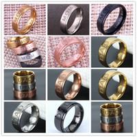 """الفولاذ المقاوم للصدأ """"أمي"""" """"DAD"""" نحت خاتم المرأة الدائري والرجال خاتم هدية عيد الأب الأم لأمي خواتم الأزياء والمجوهرات"""