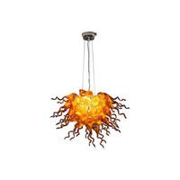 ديكور المنزل اليد الزجاج المنفوخ الثريا ضوء led مصدر الضوء الفن الحديث تصميم كيلي نمط الثريا النمط الإيطالي