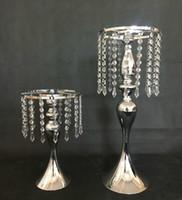 Kristallrhinestone-Kandelaber für Hochzeitsfest-elegante Kerzenhalter-hübscher Tabellen-Mittelstück-Vase stehen Kerzenständer-Hochzeits-Dekoration
