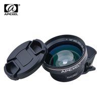 APEXEL Profissional HD Kit Câmera 063X Grande Angular 125X Celular Macro para iPhone 6 s plus 7 Samsung S8 PLUS
