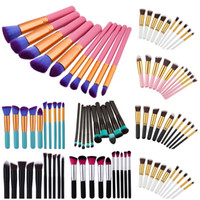 10pcs Kabuki Brush Set Professional Makeup Brushes Tools Set...