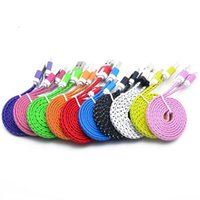 1M 2M 3M Colorful Flat Braided Cables Type- C USB Data Line S...
