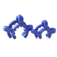 14mm 18mm blanc bleu en plastique keck clip pour verre dropdown récupérateur adaptateur nectar collecteur fabricant laboratoire laboratoire pince pince