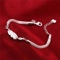 Top Verkauf Feder 925 Silber Charme Armbänder 8inchs GSSB361, Damen Sterling Silber Überzogene Schmuck Armband