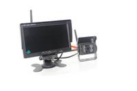Auto Truck Retrovisor Câmera Sem Fio Estacionamento PZ607W 7 Polegada Pixal 648 * 488 2 Way Vídeo Em Livre DHL