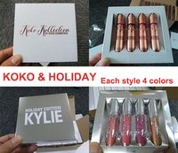Kylie Jenner lip kit 4 pcs set lipgloss KOKO & HOLIDAY lip g...