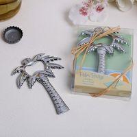 Palm Breeze Chrome Palm Tree Décapsuleur Pièces Plage Thème Souvenirs de mariage 50 pcs en gros livraison gratuite