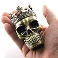 Skull Tobacco Grinder Tobacco Herb Grinder Pocket with 3 Lay...