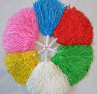 Pom Poms Cheerleading Cheer Cheerleading Supplies Square Dance Props Color puede elegir Flower Dance Cheerleading Team Handbal