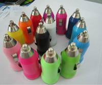 보편적 인 스마트 휴대 전화 장치 DHL 무료 배송 500PCS / 많은 다채로운 총알 미니 USB 차량용 충전기 유니버설 어댑터