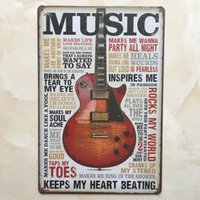 Music Guitar tin sign Vintage home Bar Pub Hotel Restaurant ...