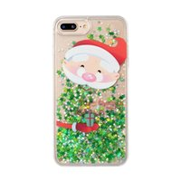 Christmas Glitter Stars Dynamic Liquid Quicksand Hard Phone ...
