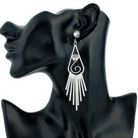 Amerikanische Art Quaste Ohrringe für Frauen 2017 Gold Silber Überzogene Quaste Legierung Lange Baumleuchter Diamant Ohrringe Großhandel Freies Schiff