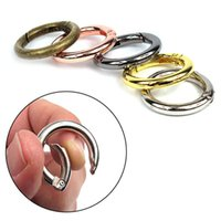 28 25mm Zinc Alloy Circle Round Carabiner Keychain Spring Ring Carabiner Clips Snap Hook Keyring Buckle Outdoor Tool
