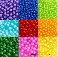 2017 heißer verkauf 8mm Acryl Verstreut Perlen für Ornamente Taschen Perlen DIY Armband Zubehör Dekorationen 18 farbe auf lager kostenloser versand