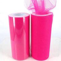 25Yards 6inch 조직 얇은 롤 종이 웨딩 장식 스풀 공예 생일 파티 베이비 샤워 웨딩 장식 용품