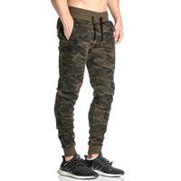 Toptan-2016 Erkekler Rahat Pantolon Kamuflaj Moda Baskı İpli Elastik Bel Cep Pantolon Marka Erkek Pantolon Eşofman 50