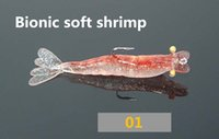 3pcs of night fishing bait with hook soft shrimp simulation ...