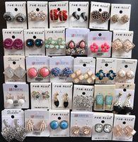 10paare / lot Mix Stil Mode Ohrringe Nagel für Geschenk Handwerk Schmuck Ohrring EA026 * Kostenloser Versand