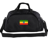 Etiópia Duffel Bag Country Ícone de Tote Ciclismo Mochila Portátil Futebol Bagagem Esporte Ombro Duffle Duffle Sling Pack