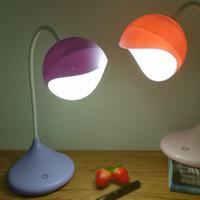 LED lendo mangueira de proteção da lâmpada de aprendizagem luz olho silicone dobra dobrar toque escurecimento USB uso crianças estudante