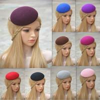 دائرة الصوف ورأى قبعة صغيرة مستديرة قبعة القبعات قبعات fascinator قاعدة كوكتيل حزب قبعة diy حرفة صنع a263