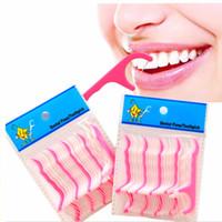 Blanc + Rose 25 pcs / ensemble Orale Hygiène Dentaire Flosser Bâtons Dentaire D'eau Floss Oral Irrigator Dents Floss Flosser Dents Pick Dent Picks