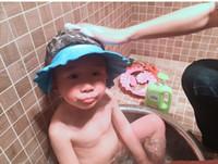 Дети толстые водонепроницаемый шапочка для душа с уха защиты hat Baby шампунь Baby shampoo cap регулируемые дети купания cap