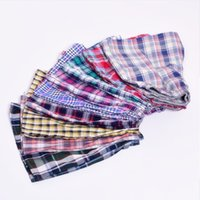 Classic Plaid Men Boxer Shorts Mens Underwear Trunks Cotton ...