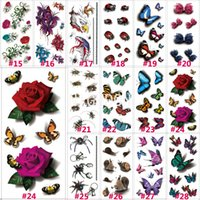 Wholesale- 1 PC 190x90mm 3D Chest Sleeve Tattoo Stickers Glit...
