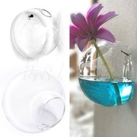 Glass Flower Planter Vase Home Garden Ball Decor Wall Hang T...