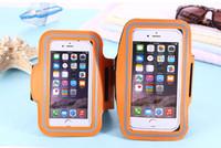 Su geçirmez PU Spor Kol Bandı Koşu Telefon Kılıfı Tutucu Kılıfı Için iPhone 7 6 6 S Artı Egzersiz Spor Kapak Çanta