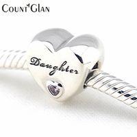 925 gioielli in argento sterling amore di figlia perline cz fai da te gioielleria raffinata misura pandora fascini originali braccialetti che fanno diy bea