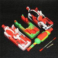 Date silicone collecteur Set avec 10mm titane ongles outil Dabber silicone collecteur Mini Bongs DHL gratuit