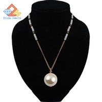 Hot new fashion hanging 30MM imitation pearl necklace long s...