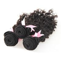 인간의 머리카락 딥 웨이브 300g 브라질 버진 머리카락 3 번들 자연 색상 브라질 헤어 번들 번들 3 개