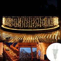 أدى سلاسل عيد الميلاد الديكور في الهواء الطلق 3.5 متر سالتان 0.3-0.5 متر أضواء الستار جليد 220 فولت 110 فولت حديقة عيد الميلاد حفل زفاف