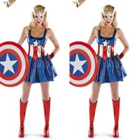 Captain America Super Heroes Bodys Cosplay Halloween Femme Adulte Les Avengers Zentai Teddies Robes Performance Costumes