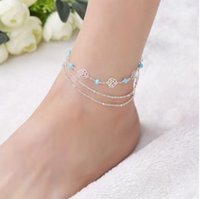 Gorgeous S925 Barefoot Sandals Sterling Silver Multi Layer H...