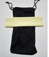 солнцезащитные очки черный ткань для очистки мешок мягкие очки сумка очки Мода солнцезащитные очки сумки +ткань бесплатная доставка 100 шт./лот 17.5*9 см
