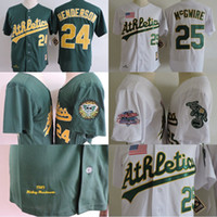 1989 World Series Patch Oakland Athletics Mens 24 Ricky Hend...