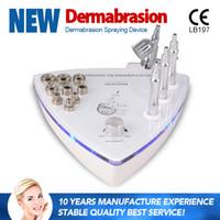 가정 사용을위한 미세 박피제 기계 2에서 1로 산소 분무기 얼굴 정화 피부를 위해 주름 제거 다이아몬드 Dermabrasion