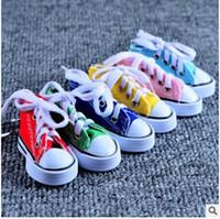 gündelik Ayakkabılar anahtarlık renk ayakkabı sevimli promosyon hediyeler asmak Tuval 11 Renkler serbest nakliye seçebilir